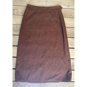 Vintage Anne Klein midi wrap skirt